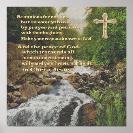 Philippians 4:6 Christian poster