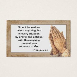 Philippians 4:6 Church Business Card