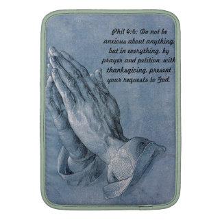 "Philippians 4:6 Praying Hands Mac Book 13"" Sleeve Sleeve For MacBook Air"