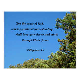 Philippians 4:7 And the peace of God.... Poster