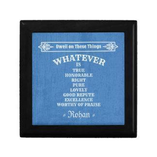 Philippians 4 8 (Blue) Gift Box