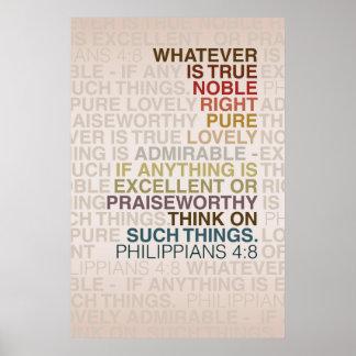 Philippians 4:8 Poster