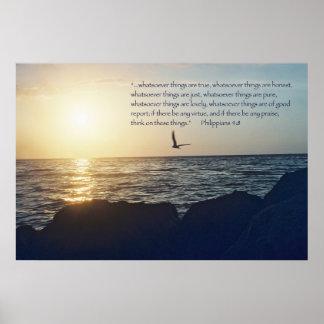 Philippians 4:8 Scripture Poster -- Version D