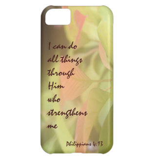 Philippians; I can do all things through Him iPhone 5C Case