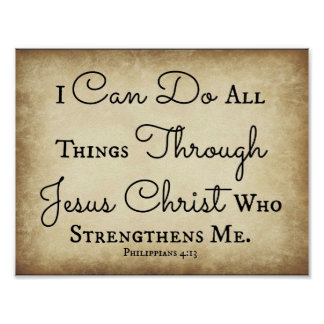 Philippians I can do all things through Jesus Poster