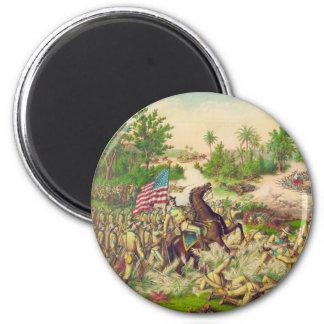 Philippine American War Battle of Quingua 1899 6 Cm Round Magnet