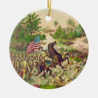 Philippine American War Battle of Quingua 1899 Round Ceramic Decoration
