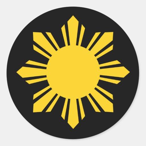 Philippine Sun Round Sticker