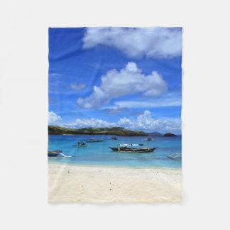 Philippines Beach Fleece Blanket