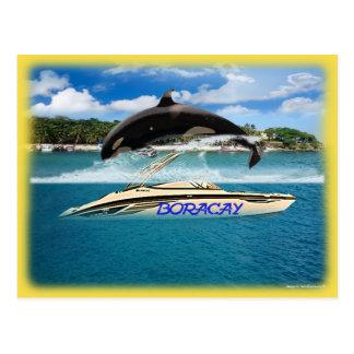 Philippines' Beach Whale Postcard