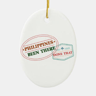 Philippines Been There Done That Ceramic Oval Decoration