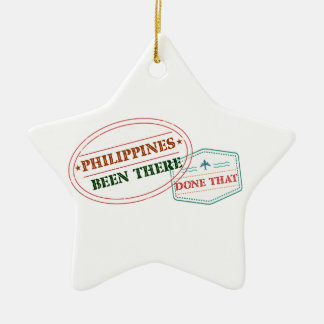 Philippines Been There Done That Ceramic Star Decoration
