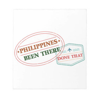 Philippines Been There Done That Notepad