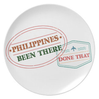 Philippines Been There Done That Plate