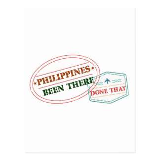 Philippines Been There Done That Postcard