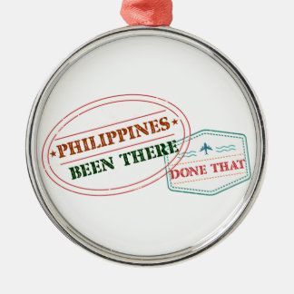 Philippines Been There Done That Silver-Colored Round Decoration