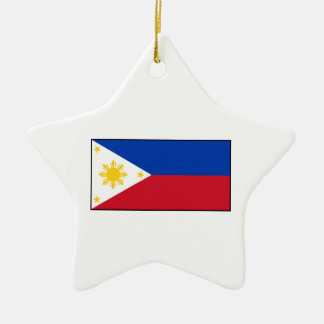 Philippines – Filipino Flag Ceramic Ornament