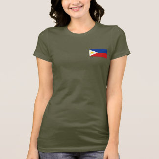 Philippines Flag and Map dk T-Shirt