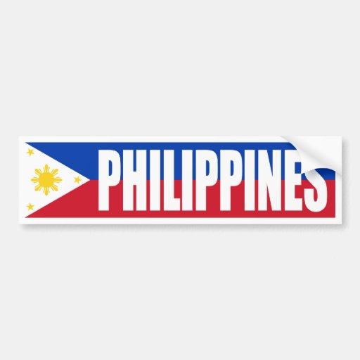 Philippines Flag Car Bumper Sticker Zazzle