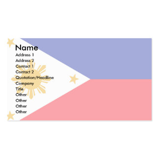 Philippines Flag Business Card Template