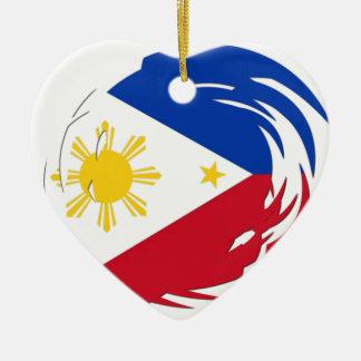 Philippines Flag Ceramic Heart Decoration