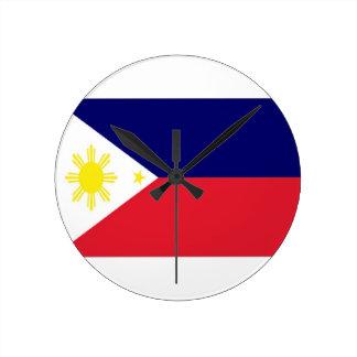 Philippines Flag Round Wallclock