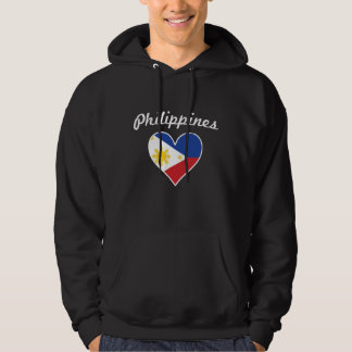 Philippines Flag Heart Hoodie