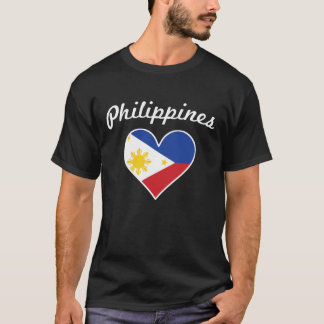 Philippines Flag Heart T-Shirt