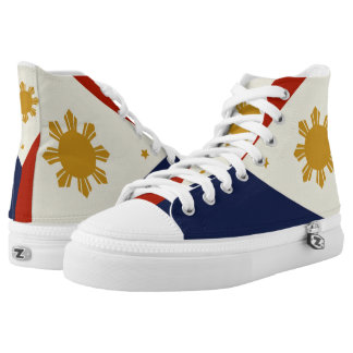 Philippines flag hightops shoes.