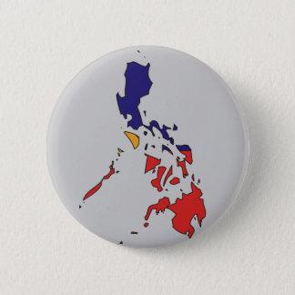 Philippines flag map 6 cm round badge