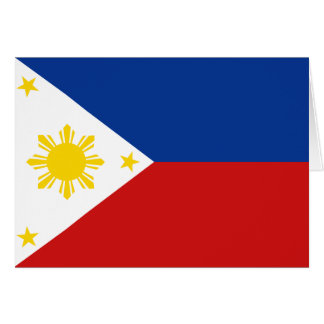 Philippines Flag Notecard