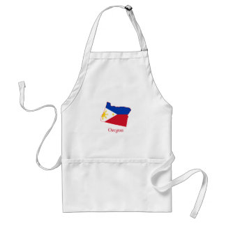 Philippines flag over Oregon state map Standard Apron