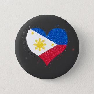 Philippines Flag Shining Beautiful 6 Cm Round Badge