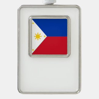 Philippines Flag Silver Plated Framed Ornament