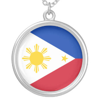 Philippines Flag Silver Plated Necklace