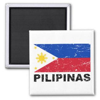 Philippines Flag Vintage Magnet