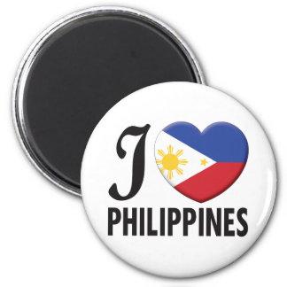 Philippines Love 6 Cm Round Magnet