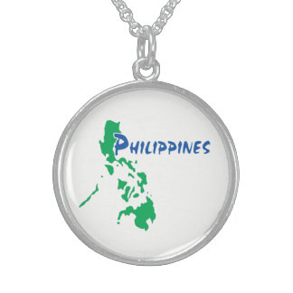 Philippines Map Sterling Silver Necklace