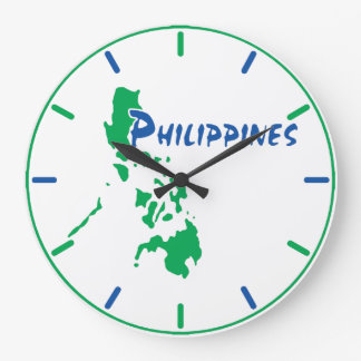 Philippines Map Wall Clock
