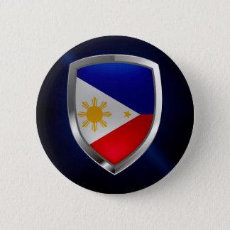Philippines Metallic Emblem 6 Cm Round Badge