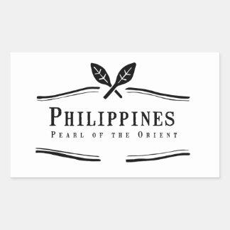 Philippines Pearl of the Orient Rectangular Sticker