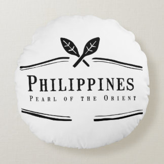 Philippines Pearl of the Orient Round Cushion