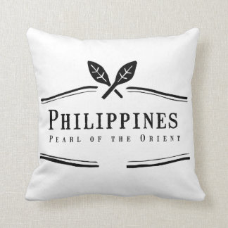 Philippines Pearl of the Orient Throw Pillow
