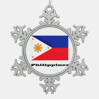 Philippines Pewter Snowflake Decoration