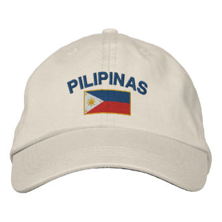 Philippines Pilipinas Flag Embroidered Hats