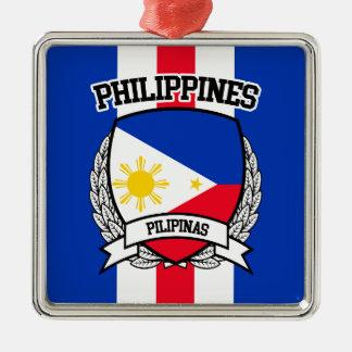 Philippines Silver-Colored Square Decoration