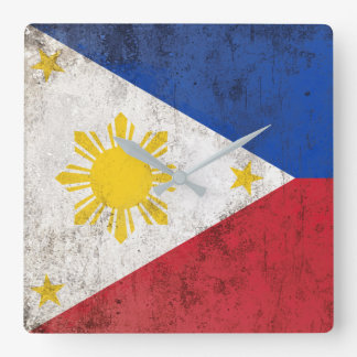 Philippines Square Wall Clock