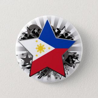 Philippines Star 6 Cm Round Badge