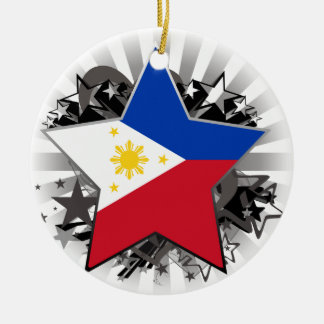 Philippines Star Ceramic Ornament