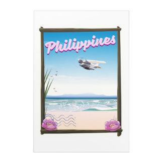 Philippines Travel poster Acrylic Print